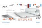 Ортопедический тонкий матрас WHITE  MatroLuxe - Flip