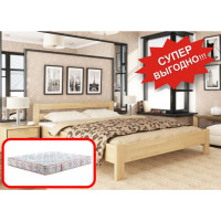 Кровать Рената (еврощит) + Матрас Пион двухсторонний (140х200)