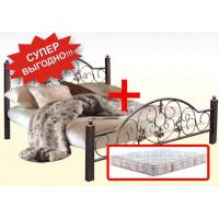 Кровать Жозефина + Матрас Камелия двухсторонний (140х200)