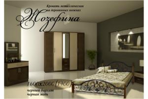 Кровать металлическая Жозефина (на деревянных ножках)