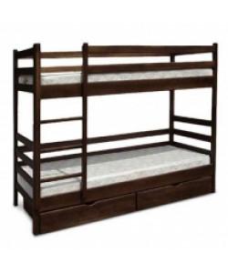 Двухъярусная деревянная кровать Засоня