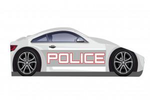 Кровать-машинка Полиция New Бренд