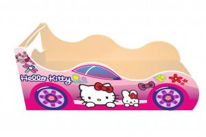 Кровать-машинка Китти с ящиком Драйв
