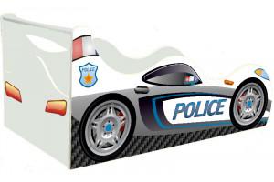 Кровать-машинка Полиция с подъемником Драйв
