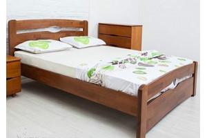 Деревянная кровать КАРОЛИНА с изножьем МИКС-Мебель