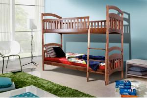 Двухъярусная деревянная кровать КИРА МИКС-Мебель