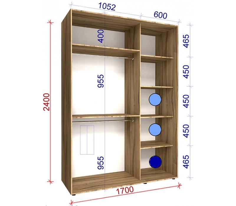 Шкаф-купе зеркало/зеркало двухдверный классик 4 matroluxe ку.