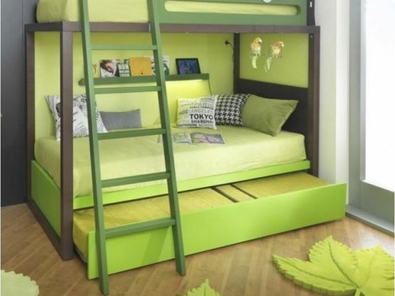 Красивые интерьеры каждый день | Двухъярусные комнаты, Бирюзовая детская,  Двухъярусная кровать | 600x800