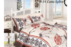 Постельное белье First Choice, бамбук, сатин B-14 Luna Kahve (ФЁСТ ЧОИС)