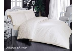 Постельное белье Mariposa Bamboo Satin Jaquard Ottoman V3 Cream (МАРИПОСА)