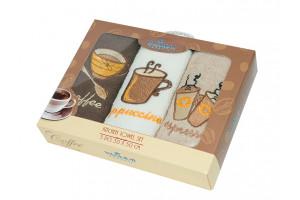 Набор кухонных полотенец Yagmur Coffee 3 (Ягмур)