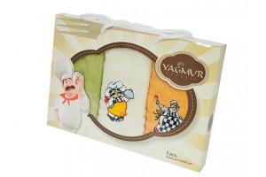Набор кухонных полотенец Yagmur Повар 3 (Ягмур)