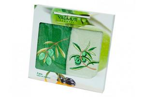 Набор кухонных полотенец Yagmur Olive 2 (Ягмур)