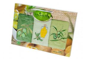 Набор кухонных полотенец Yagmur Olive 3 (Ягмур)