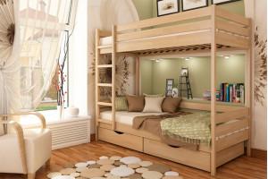 Деревянная кровать Дуэт Эстелла двухъярусная Бук